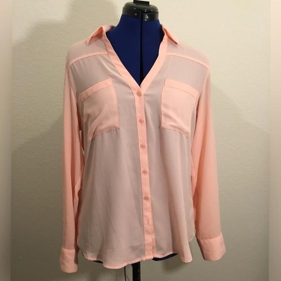 Express Tops - Pink EXPRESS Original Fit Portofino Shirt